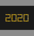 2020 golden numbers template vector image vector image