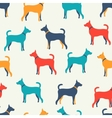 animal seamless pattern dog silhouettes endless vector image