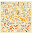 Are You A Tennis Player text background wordcloud vector image vector image
