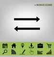 arrow simple sign black icon at gray vector image vector image