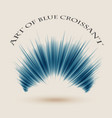 art of blue croissant background vector image vector image
