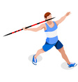 Athletics Javelin 2016 Sports 3D vector image vector image