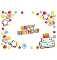 birthday candy vector image vector image