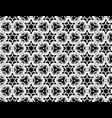 black and white seamless image of snowflakes vector image
