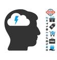 Brainstorming Icon With Free Bonus vector image