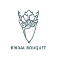 bridal bouquet line icon linear concept vector image