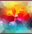 bright polygon background vector image vector image