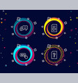 buy button happy emotion and comments icons vector image