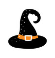 cartoon halloween hat isolated on white background vector image vector image