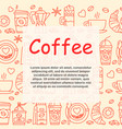 coffee icons seamless pattern vector image vector image