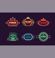 collection of bright colorful neon signs casino vector image vector image