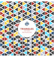 colorful triangles pattern on white background vector image