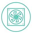 Computer cooler line icon vector image vector image