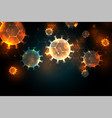 covid19-19 coronavirus pandemic outbreak infection vector image vector image