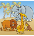 cute african animals cartoon vector image vector image