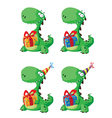 Cute dinosaur with a gift set
