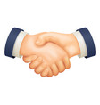 deal handshake businessman partnership agreement vector image