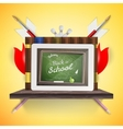 Digital tablet with touch screen EPS 10 vector image