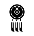 dreamcatcher icon black sign vector image
