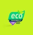 eco friendly green logo label vector image
