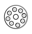 film tape reel icon image vector image vector image