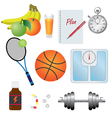 Fitness set vector image
