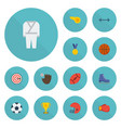 flat icons ball ice boot uniform and other vector image vector image