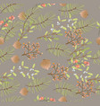 floral seamless pattern decoration for christmas vector image vector image