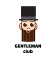 gentleman club logo vector image