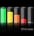 Glass Battery vector image vector image