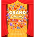 Grand opening banner design vector image vector image