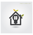 Green energy home concept vector image