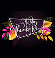 greeting thanksgiving banner with hand vector image
