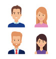 group of business people characters vector image vector image