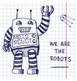 hand draw robot vector image