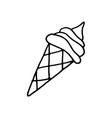 hand drawn ice cream vector image vector image
