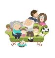 Happy family with mother dad son daughter vector image