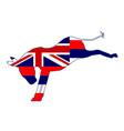 hawaii democrat donkey flag vector image vector image