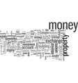 how to make your money work for you vector image vector image