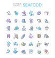 icon and logo for seafood restaurant or vector image
