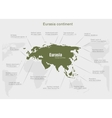 infographics continent Eurasia green and gray vector image vector image