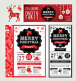 Invitations Merry Christmas vector image vector image