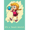 Its a small world vector image vector image