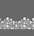 lace border with flowers vector image vector image