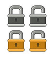 lock icons set on white background vector image vector image