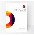 Minimalistic white brochure template vector image vector image