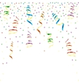Multicolor curling ribbons with stellar confetti vector image vector image