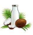 organic non dairy coconut milk realistic vector image