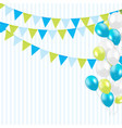 party background with flags and balloons vector image vector image