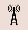 phone antenna icon on white background vector image vector image